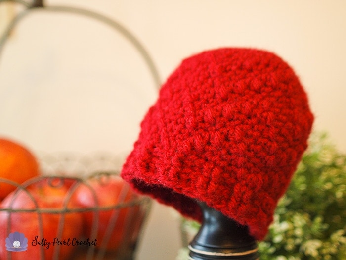 Find the Free Chevron Puff Hat Pattern at SaltyPearlCrochet.com!