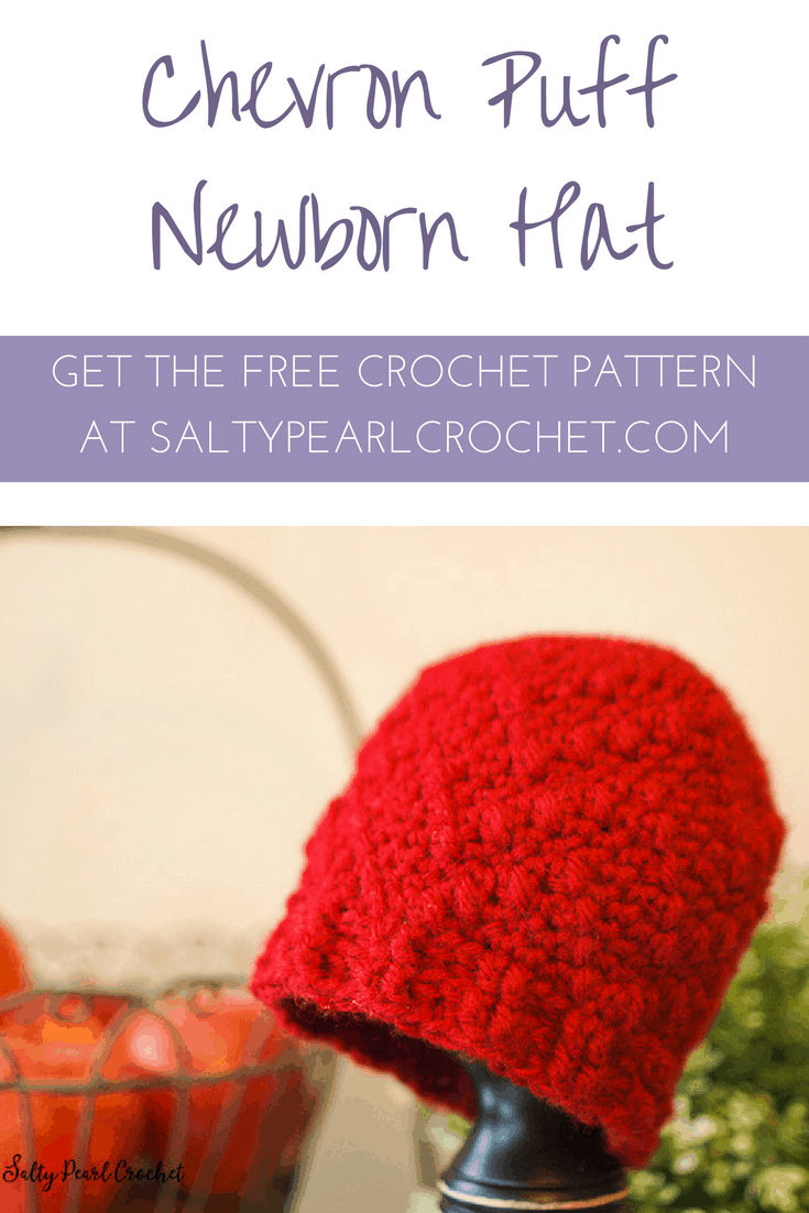 Get the Free Chevron Puff Hat Crochet Pattern at SaltyPearlCrochet.com!