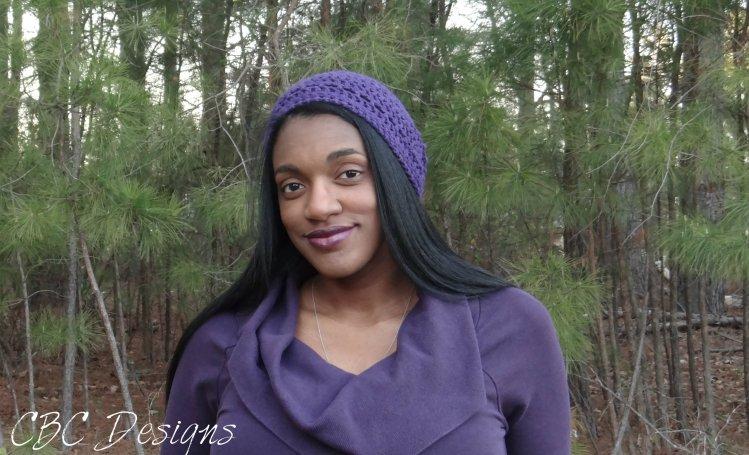 Courtney wearing Las Olas Crochet Hat (free pattern!)