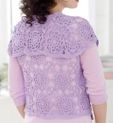Lovey Lace Vest - part of a boho crochet vest pattern collection curated by SaltyPearlCrochet.com.