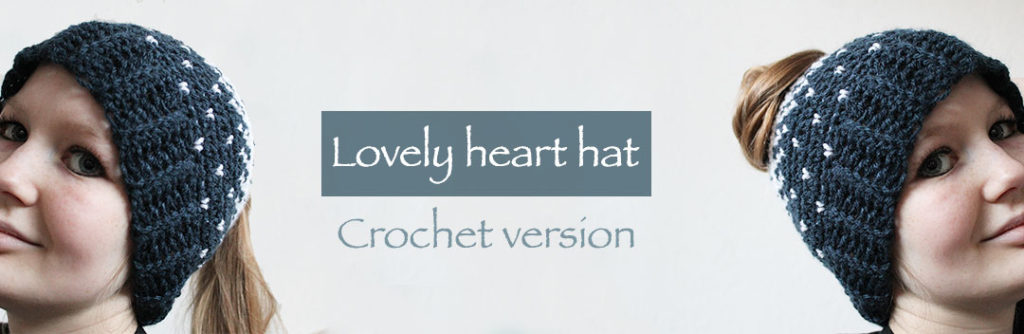 Lovely Heart Hat - Free Valentine Crochet Pattern Collection compiled by Salty Pearl Crochet