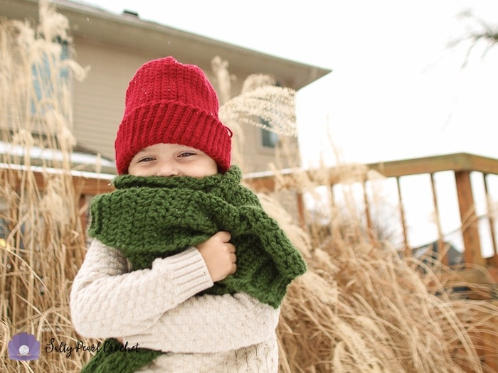 Free Crochet Scarf Pattern for Boys by SaltyPearlCrochet.com
