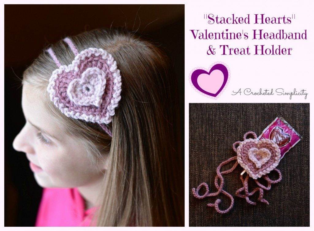 Stacked Hearts Valentine Headband - Free Valentine Crochet Pattern Collection compiled by Salty Pearl Crochet