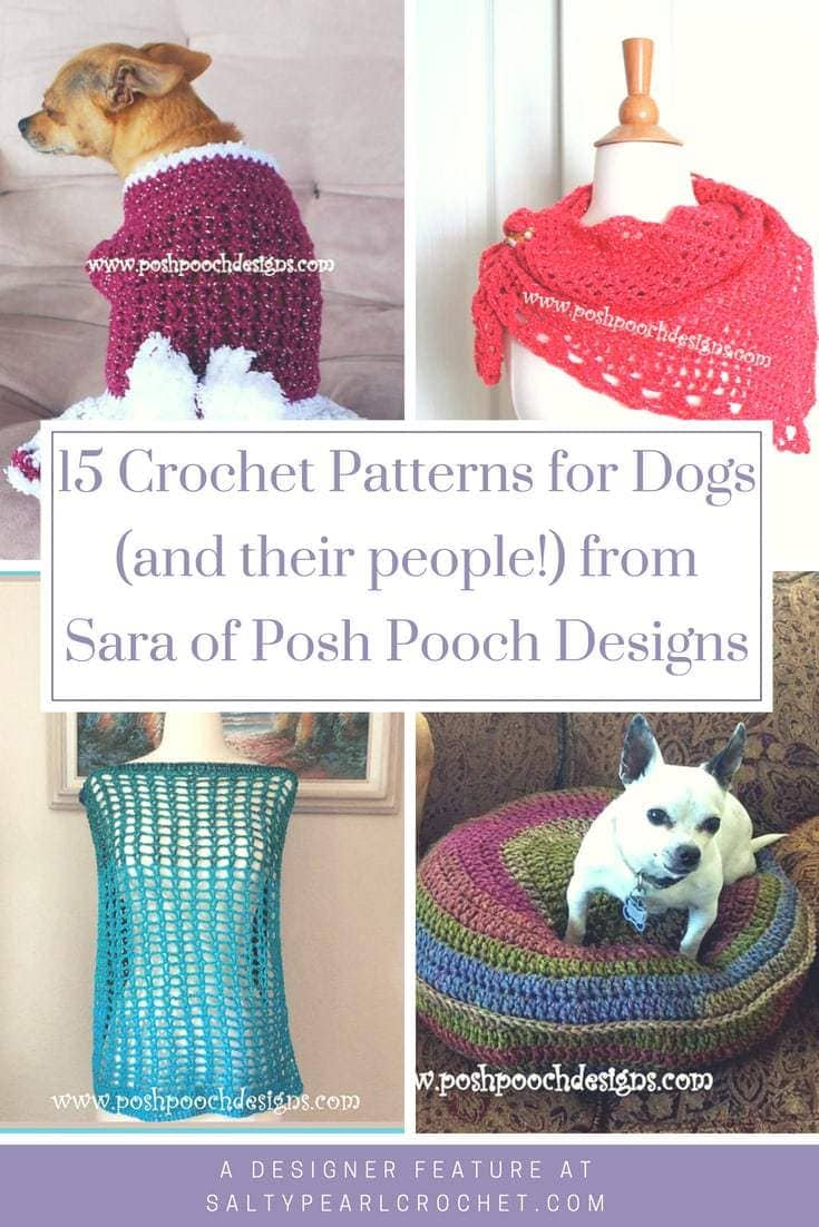 15 Crochet Patterns for Pets (and their people!) by Sara at