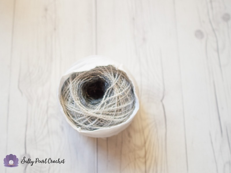 Stretch pantyhose over your yarn cakes to store them neatly