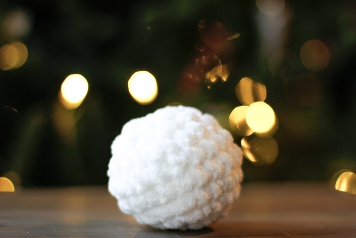 Small Crochet Snowball