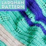 closeup view of a textured lapghan crochet blanket pattern
